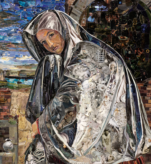 Mary Magdalene, after Giovanni Girolamo Savoldo © Vik Muniz – Courtesy Collection Lambert