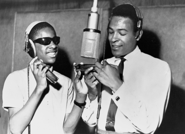Marvin Gaye & Stevie Wonder early 60's By courtesy of Motown - Universal music group