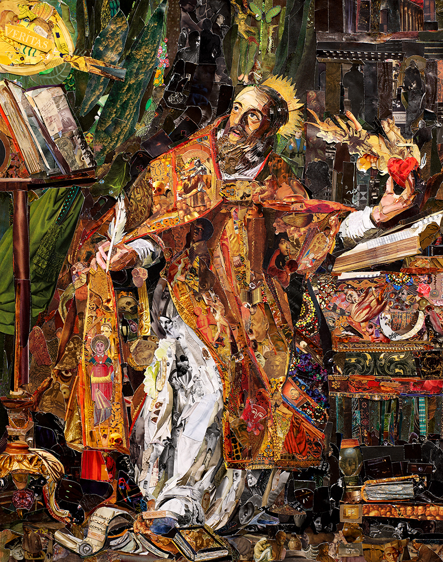 Saint Augustine after Philippe de Champaigne © Vik Muniz – Courtesy Collection Lambert