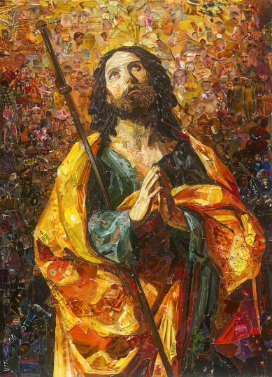 Saint James, The Greater, after Guido Reni © Vik Muniz – Courtesy Collection Lambert