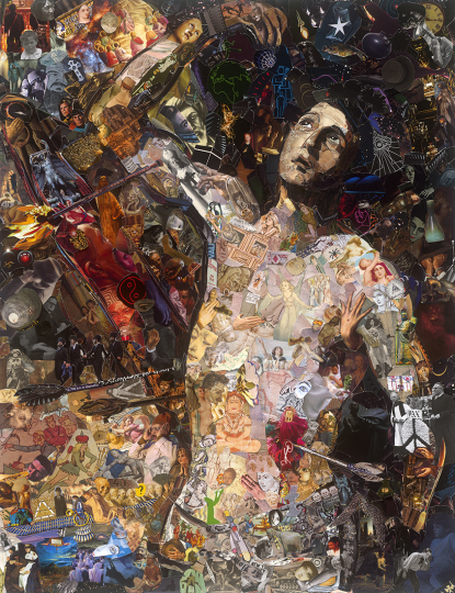 Saint Sebastien after Jose Ribera © Vik Muniz – Courtesy Collection Lambert