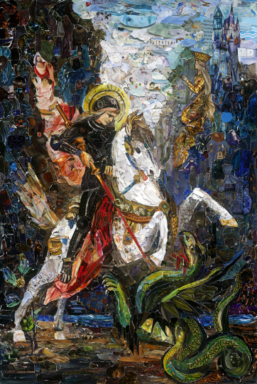 Saint George and the Dragon, after Gustave Moreau © Vik Muniz – Courtesy Collection Lambert