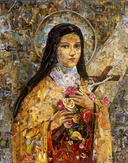 Saint Therese of Lisieux © Vik Muniz – Courtesy Collection Lambert