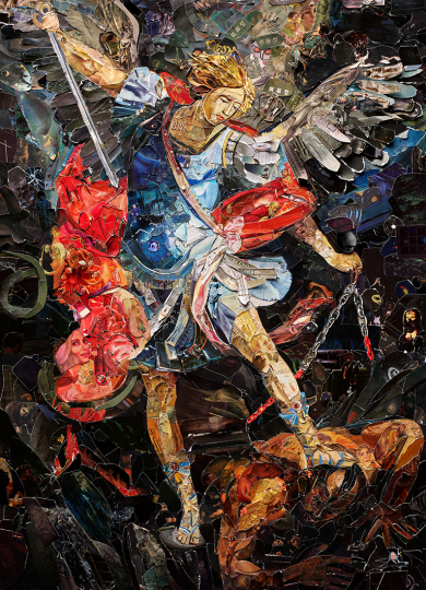 Archangel Michael after Darko Topalski © Vik Muniz – Courtesy Collection Lambert