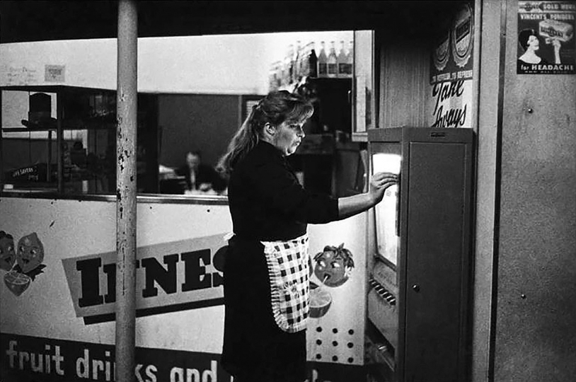 "Party, Milk Bar, Grey's Avenue, Auckland 1963 © Gary Baigent – From ""The New Photography"""