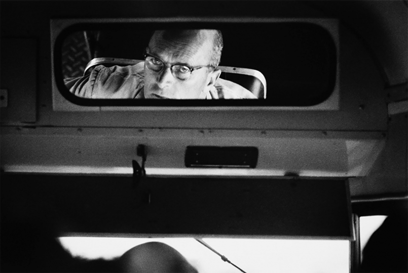 "Bus driver, Victoria Street, Hamilton, 1969 © John Daley – From ""The New Photography"""