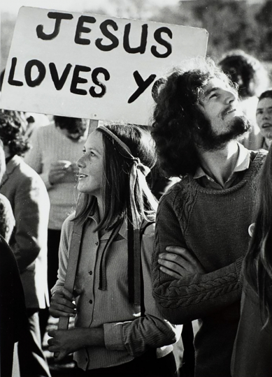 "Peace rally in The Domain, Auckland, 1974 © John Daley – From ""The New Photography"""