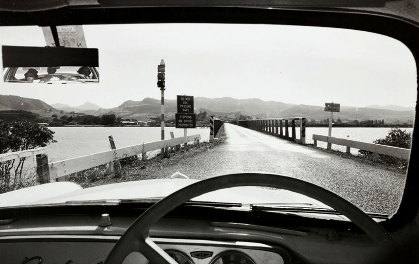 "Car at Waihao Bridge, Thames, 1974 © John Fields – From ""The New Photography"""