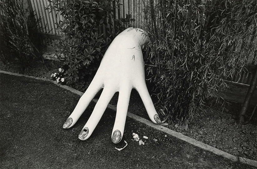 "Plaster hand, Childrens' Play Centre, Christchurch, 1972 © Len Wesney – From ""The New Photography"""