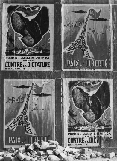Anti-Communist Posters, Paris, 1951 © Todd Webb – Courtesy The Todd Webb Archive