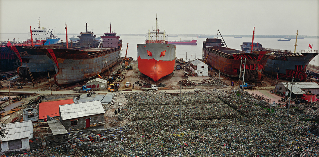Edward Burtynsky, Shipyard #1, Qili Port, Zhejiang Province, China - Courtesy Phillips New York
