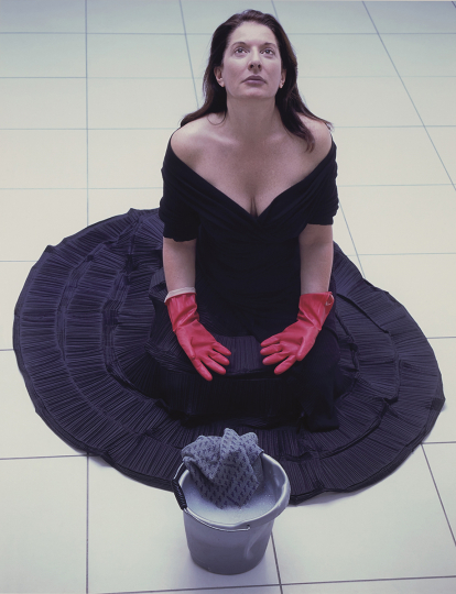 Marina Abramović, Cleaning the Floor, 2005 © Marina Abramović, Courtesy of the Marina Abramović Archives - Courtesy Phillips New York