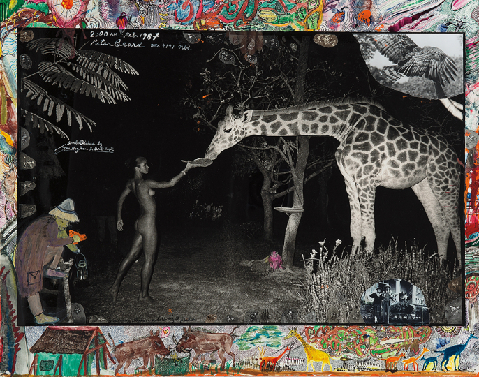 Peter Beard, Maureen Gallagher and a Late Night Feeder - Courtesy Phillips New York