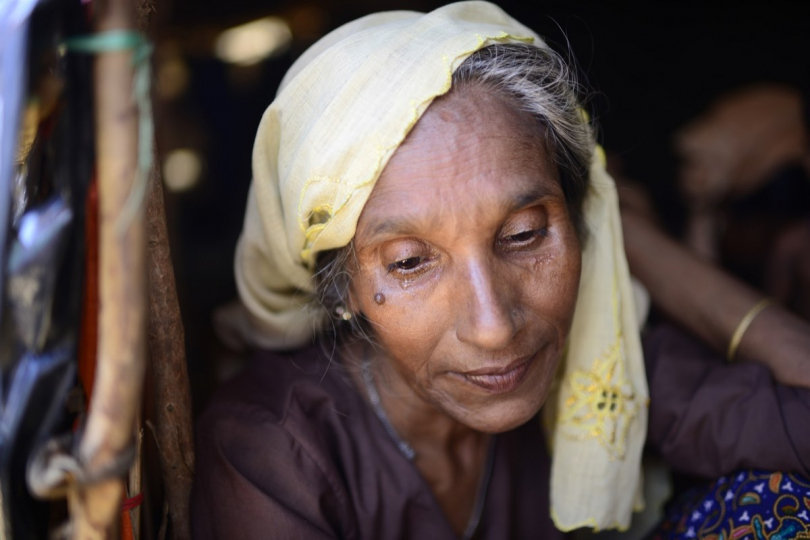 Portrait of a refugee from Myanmar who took a boat with her husband to cross the border Bangladesh / Myanmar, Cox Bazaar district, 2017 Photographer: Mahmud Hossain Opu © ICRC