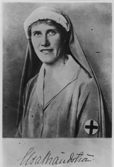 Elsa Brändström, Swedish Red Cross. She rescued prisoners of war in Siberia from 1919 until 1921 © ICRC archives