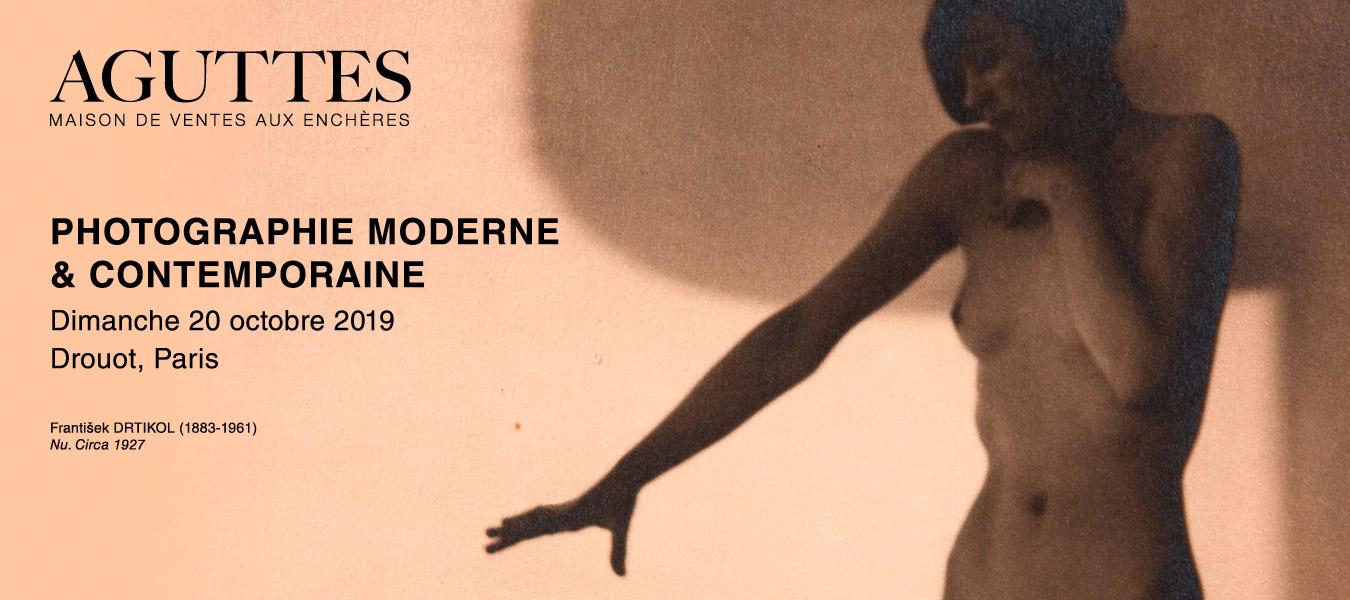 Ventes aux enchères PHOTOGRAPHIE MODERNE & CONTEMPORAINE - Aguttes - dimanche 20 octobre 2019 16:30 - Drouot Paris
