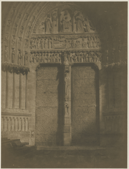 Gustave LE GRAY (French, 1820-1884) Porte, Notre Dame de Paris, early 1850s - Courtesy Hans P. Kraus Fine Photographs