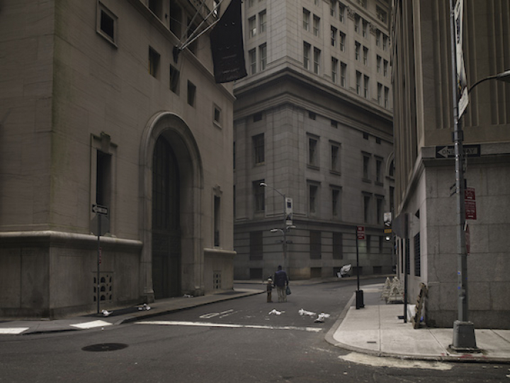 Wall Street - Série Memories of a silent world 2008-2013 © Brodbeck de Barbuat