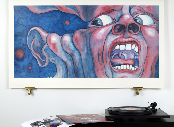 King Crimson In th Court of the Crimson King, Front Album Cover Art Print Scale