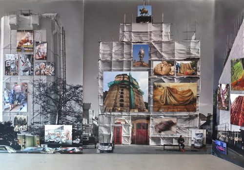 "Exhibition ""Wrapped City"" by Deidi von Schaewen at the Kunsthalle of Bratislava"