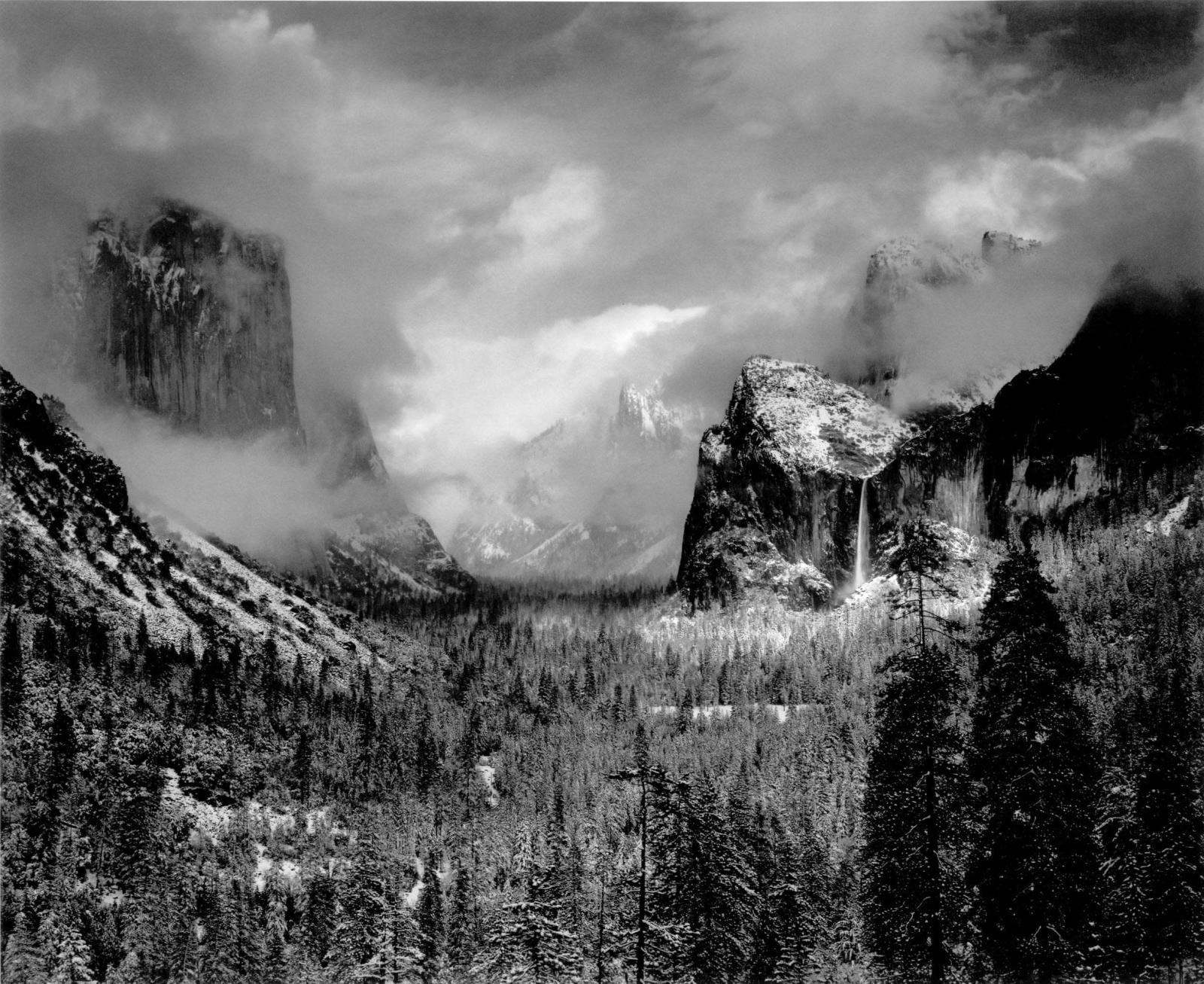 Ansel Adams, Clearing Winter Storm, Yosemite National Park, California, 1944. Estimate $40,000 - 60,000. Photographs New York