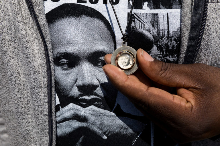 The National Civil Rights Museum : Outside the Lorraine : David Katzenstein : A Photographic Journey to a Sacred Place
